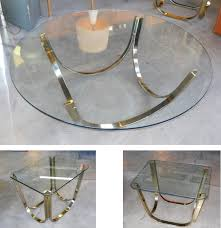 adrian pearsall glass top side table sold roger sprunger dunbar vintage polished brass