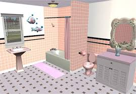 the wall tiling itself is pretty simple really just plain tiles with a black trim i went with those classic 50s colours of pink lemon turquoise