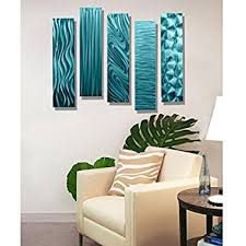 statements2000 aqua metal wall art decor 5 piece set of modern wall art by jon allen metal art 5 easy pieces aqua on green and brown metal wall art with amazon turquoise teal blue wall art turquoise essence