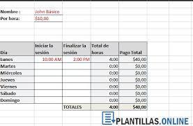 Plantilla Calcular Horas Trabajadas En Excel Gratis