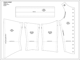 Corset Pattern New Columbia's Closet Frank's Corset Pattern