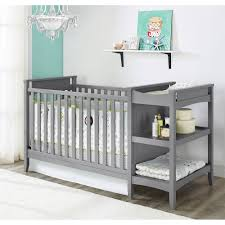 All In One Crib Baby Relax Emma 2 In 1 Crib N Changer Combo Gray Walmartcom
