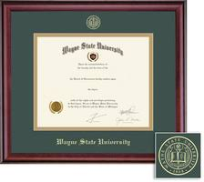 diploma frames wayne state university bookstore framing success classic double matted diploma frame in a burnished cherry finish