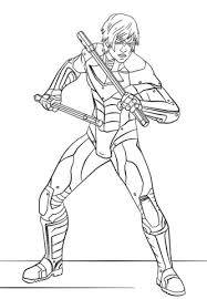 nightwing from arkham city coloring page