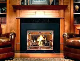 gas starter fireplace wood burning insert installation