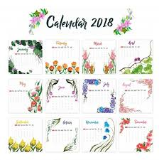 2018 yearly printable calendar calendar 2018