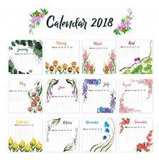 2018 yearly printable calendar calendar 2018
