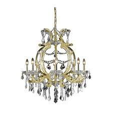 elegant lighting maria theresa elegant cut crystal gold eight light 32 5 in chandelier