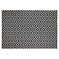 black and white geometric rug. colours harrietta black \u0026 white geometric rug (l)1.7m (w)1.2 m   departments diy at b\u0026q and