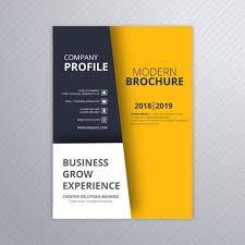 Brochure Template Design Free Modern Business Brochure Template Design Vector Eps File