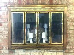 paint fireplace doors painting modern brass trim on metal f painting brass fireplace