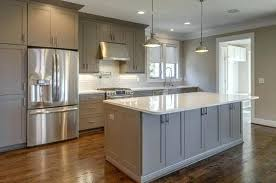 grey cabinets with white countertops traditional grey kitchen