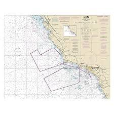 California Nautical Charts Amazon Com San Diego To San Francisco Bay California