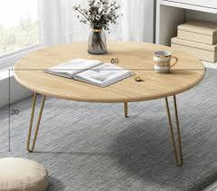 luxury modern round living room coffee