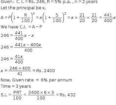 The Compound Interest On A Certain Sum Of Money At 5 Per