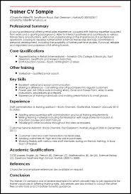 Resume Of Trainer Trainer Resume Sample Under Fontanacountryinn Com