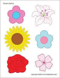 Coloring mandalas for kids might be more fun if the mandala contains simple shapes that they can relate to, such as hearts and flowers. Flowers Free Printable Templates Coloring Pages Firstpalette Com Flower Templates Printable Flower Printable Easter Printables Free