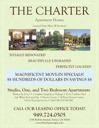 Move In Specials Apartment Flyer Property Management