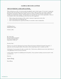 Example Letter Declining Job Offer Sample Letters Declining