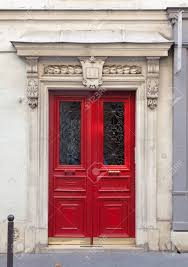 red double front doors. Exellent Red Ornate Double Front Door With Carved Stonework Facade Stock Photo   23007767 Inside Red Double Front Doors O