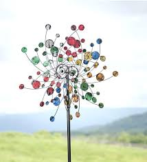 metal wind spinners for garden nice garden spinners and decor confetti wind spinner in colorful metal