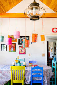 bright coloured furniture. colorful dining chairs room farmhouse with high ceiling kitchen bright coloured furniture