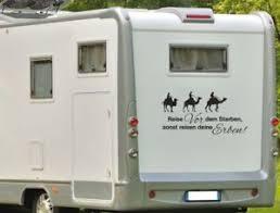 Aufkleber Wohnwagen Wohnmobil Caravan Camper Auto Spruch Reisen