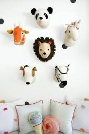 various felt animal heads for decorating a kids playroom wall mounted stuffed room rugs head decor unicorn deer stuffed toys animal heads wall decor
