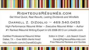 Resume Samples Righteousresumes Com Call 469 540 0455 Today