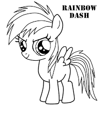 Coloring Pages My Little Pony Rainbow Dash L