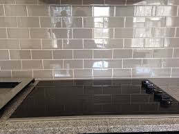 image of white glass subway tile contemporary kitchen backsplash arafen with regard to glass subway