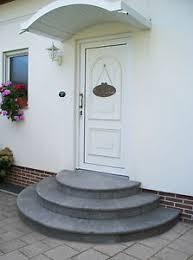 Wie lang, breit und hoch die. Treppe Stufe Aussen Haus Eingang Podest Naturstein Granit Beton Halbrund Grau Ebay