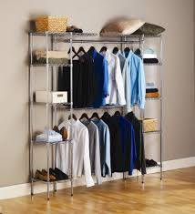 Free Standing Closet Rack Roselawnlutheran As Well As Stunning Free  Standing Clothing Racks (View 14