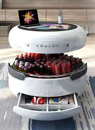 smart coffee table doubles as a fridge