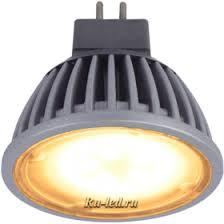 <b>Ecola MR16 LED</b> 5,4W 220V GU5.3 золотистая матовое стекло