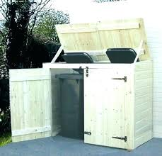 outdoor trash can storage ideas cabinet outside wooden shed home design with regard to