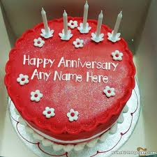 Anniversary Cake Images With Name Editor Floweryred2com