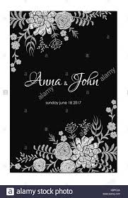 Black And White Greeting Card Black And White Wedding Invitation Vintage Greeting Card Template