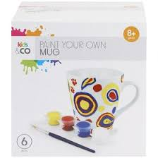 6 Piece Paint Your Own Mug