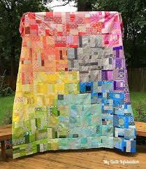 187 best quilts images on Pinterest | Quilting ideas, Baby quilts ... & Rainbow Scraps in all kinds of quilts Adamdwight.com