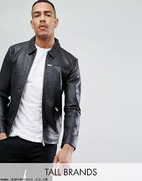 selected homme tall leather jacket znivxrcb jackets coats men s clothing clearance