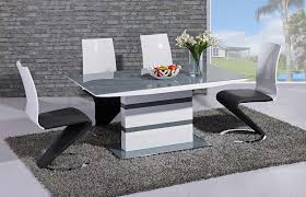 arctic dining table with high gloss