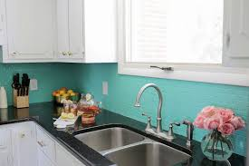 view in gallery green painted backsplash from a beautiful mess