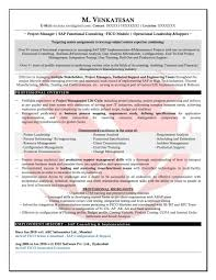 Sap Consultant Resume Template New Sap Fico Sample Resumes Download