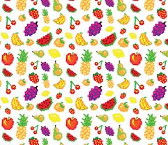 Fruit Pattern Magnificent Retro Pixel Fruit Pattern Fabric Vectorificdesign Spoonflower