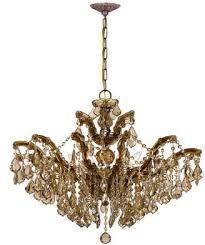 golden teak 6 light chandelier
