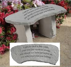 memorial bench for loss of a child