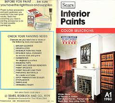 Sears Paint Color Chart Sears Latex Paints For Interior Surfaces 1980 Brochure