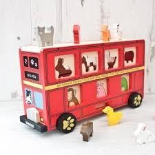 red bus shape sorter