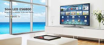 samsung tv 55 inch. pick the right tv for your family with samsung slim led es6800. smart hub content and apps powered by a fast multitasking processor deliver smarter tv 55 inch
